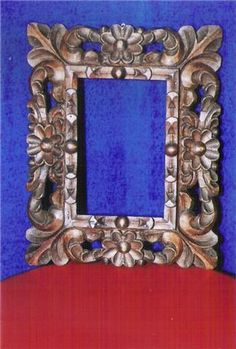 O the things I could do with alot of these Peruvian colonial carved frames.