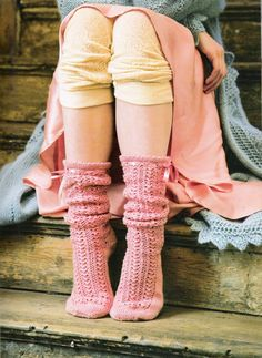 Ravelry: Project Gallery for Lacy Bed Socks pattern by Jennie Atkinson Bed Socks, Comfy Socks, Warm Socks, Keep Warm, Warm And Cozy, Stay Warm, Looks Style, Style Me, Style Feminin