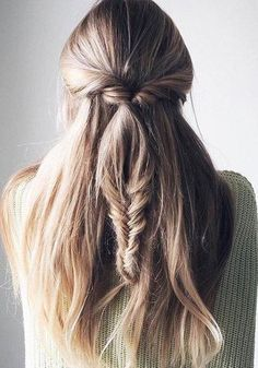 Hot Half Braided Long Hairstyles 2017 – 2018 for Girls