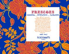 FRESCOES Wedding Invitation Cards Kolkata India