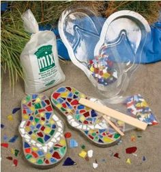 Adorable craft idea: Teens will like making flip flop mosaics: $16.47