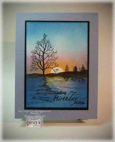 A card making tutorial from Theresa Momber. Learn to make a sponged and stamped scene using stamps from Gina K Designs. Please note - I made a mistake on thi...