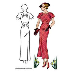 1930s Button Dress is a classic design - #3007 – Decades of Style Pattern Company.  i love the lady-like style of the 1930's.