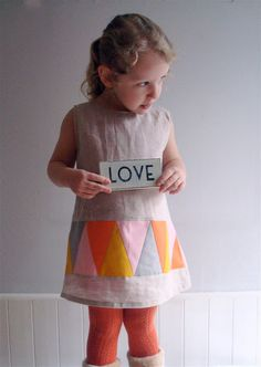 What's the Point Linen Dress - size 2-3 yrs, 3-4yrs, 4-5yrs. $44,00, via Etsy.