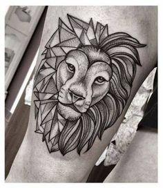 Resultado de imagem para geometric lion drawing