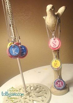 Monogram necklace - kids' birthday party/sleepover activity