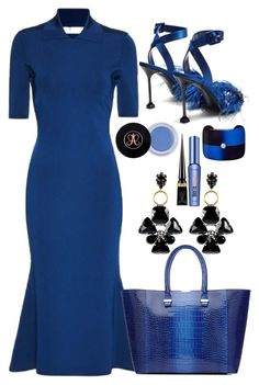 """""""I love this blue dress"""" by sunnydays4everkh ❤ liked on Polyvore featuring Victoria Beckham, Miu Miu, Marni, Christian Louboutin and Benefit"""