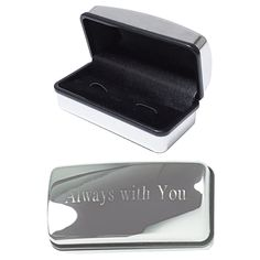 We are able to upgrade the box on any of our cufflinks to a metal or wood box with custom engraving. Great for a business logo, wedding, or special message.  #custom #jewelry #MensFashion #wedding