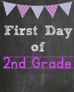 2nd grade free printable @goldenstatemom