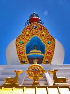 Heart of the Stupa - Deer and Dharma Wheel