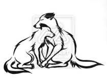 Two Wolves Tattoo Google Search Tribal Wolf Wolf Mates Wolf Tattoos