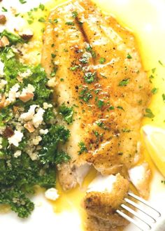 Lemon Butter Sauce for Fish, #Butter #Fish #Lemon #Sauce Salmon Recipes, Fish Recipes, Chicken Recipes, Lemon Fish, Pan Fried Fish, Kale Quinoa Salad, Recipetin Eats, Lemon Butter Sauce, Fish Salad