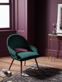 Buy Navy John Lewis & Partners + Swoon Rousseau Occasional Chair from our Dining Chairs range at John Lewis & Partners. Led Furniture, Upholstered Furniture, Furniture Design, Cabin Furniture, Western Furniture, Plum Walls, Purple Interior, Curtains With Blinds, Occasional Chairs
