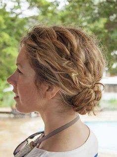 Low bun for short curly hair updos for thin hair