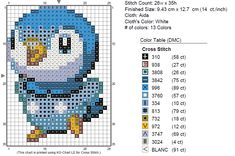 free cross stitch bluebird
