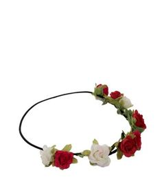 Shine bright with New Look's glam collection of women's jewellery. From statement necklaces and bracelets to sparkling rings, shop online for free delivery. Red Flower Crown, Flower Crown Headband, Red Headband, Head Wrap Headband, Flower Crowns, Flower Headbands, Floral Garland, Flower Garlands, Flowers In Hair