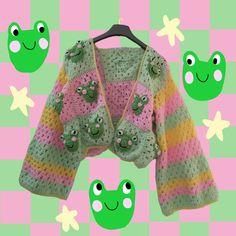 Harajuku Fashion, Kawaii Fashion, Cute Fashion, Crochet Frog, Cute Crochet, Indie Outfits, Cool Outfits, Fashion Outfits, Kawaii Clothes