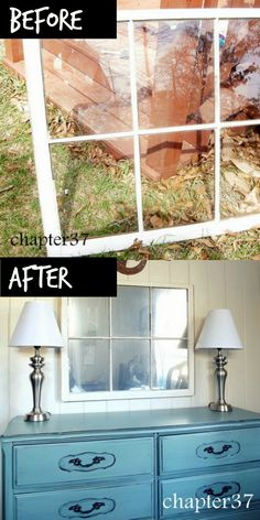 How to Turn an Old Window Into a Mirror