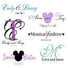 Disney Monograms, great for tee shirt design?