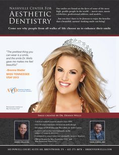 Nashville Center for Aesthetic Dentistry - smile design with prepless veneers by #DrDennisWells #MissTNUSA