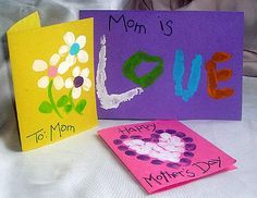 There's nothing more unique than a fingerprint and nothing more special than preserving a child's tiny fingers and hands for posterity. Mom will love and cherish these adorable cards made by little hands