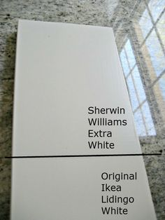 sherwin williams pearly white (has a hint of grey) | Color match ...