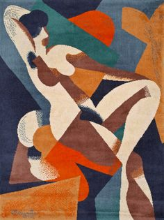 A Cubist nude of Aunt Margaret hangs in her Bloomsbury home - perhaps not unlike this Magritte tapestry version.