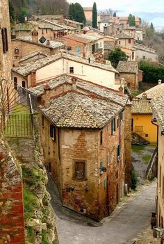 Loved walking around this village. The charming medieval village of Montepulciano ~ located in the heart of Tuscany, Italy Places Around The World, The Places Youll Go, Places To See, Italy Vacation, Italy Travel, Italy Trip, Vacation Spots, Siena, Wonderful Places