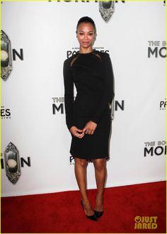 Zoe Saldana.  Stella McCartney dress.  Tom Ford shoes.  Neil Lane jewels