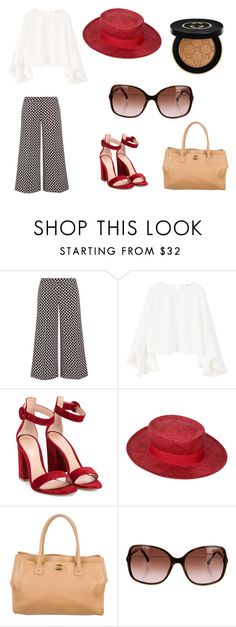"""""""Untitled #19"""" by ramonazugic ❤ liked on Polyvore featuring MICHAEL Michael Kors, MANGO, Gianvito Rossi, Chanel and Gucci"""