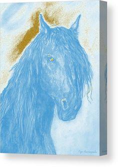 Horse Spirit Canvas Print / Canvas Art by Faye Anastasopoulou - Elwira Blount Horse Oil Painting, Canvas Art, Canvas Prints, Thing 1, Art For Sale Online, Horse Portrait, Equine Art, Western Art, Wood Print