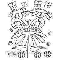 Butterfly Coloring Pages - FamilyFunColoring