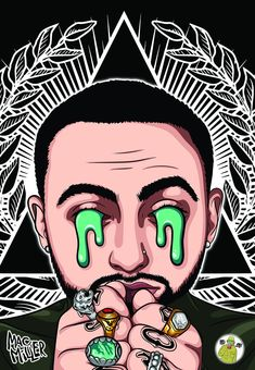 Your place to buy and sell all things handmade Dope Cartoons, Dope Cartoon Art, Simple Cartoon, Diy Canvas Art, Abstract Canvas, Cartoon Painting, Hip Hop Art, Music Artwork, Mac Miller