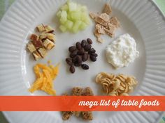 first table food ideas
