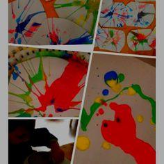 Slaslinger kunst. Lekker aan het werk met peuter. Veel ervaringen en begrippen om over te praten. Games For Kids, Diy For Kids, Crafts For Kids, Arts And Crafts, Craft Activities, Nursery, Museum, Children, School