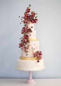 Rosalind Miller Sugar Flower Wedding Cake 15