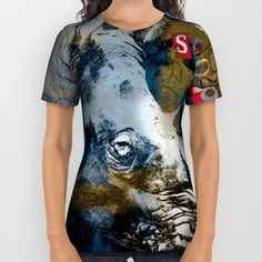 Wildlife poachers need to be stopped! In South Africa alone rhinoceros poaching increased 9,000% in a 7 year period, mostly to supply rhino horn for Chinese medicine in Vietnam and China. Display, wear and carry art that starts conservations!