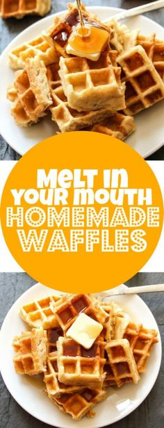 This is a recipe for our favorite homemade waffles – slightly crispy on the outside, and so light and fluffy on the inside that they melts in your mouth. These are the ULTIMATE homemade waffles. Best way to spend a Saturday morning? Making huge stacks of waffles, covered in melty butter, a cascade of maple …