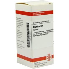 ALUMINA D 4 Tabletten:   Packungsinhalt: 80 St Tabletten PZN: 02109534 Hersteller: DHU-Arzneimittel GmbH & Co. KG Preis: 5,95 EUR inkl.…
