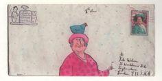 Envelopes from Axel Scheffler via Nosy Crow. Love Mail, Fun Mail, Envelope Lettering, Envelope Art, Hand Lettering, Axel Scheffler, Moleskine, Mail Art Envelopes, Going Postal