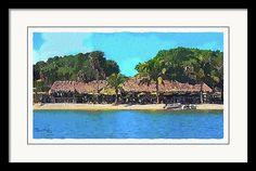 """Olearys Tiki Bar by Susan Molnar"" More coastal decor and artwork at www.Susan-Molnar.pixels.com. #coastalart"