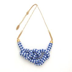 Gingham Rope Knot Necklace par HOMAKO sur Etsy => Simple but sooooo stylish !!