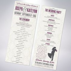 Wedding Programs by TheDesignBrewery on Etsy