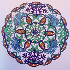 Creative Haven Snowflake Mandalas Coloring Book (Adult Coloring): Marty Noble: 9780486803760: Amazon.com: Books