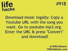 life hacks download music legally