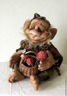 Купить Лесной житель - лесной житель, текстильная кукла, кукла ручной работы, авторская кукла