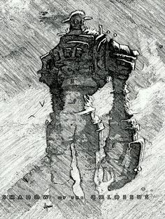 Shadow of the Colossus Last Shadow, Monster Design, Elements Of Art, Comic Book Artists, Environmental Art, Video Game Art, Best Graphics, Tribal Art, Cosplay
