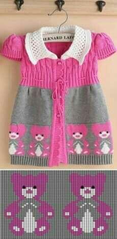 I often use fillet chrochet and knitting graphs for cross stitch. Knitting For Kids, Baby Knitting Patterns, Crochet For Kids, Knitting Designs, Knitting Stitches, Baby Patterns, Crochet Baby, Knit Crochet, Intarsia Knitting