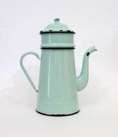 Cafetiere   French Cafetiere  Duck Egg Blue  by LittleFrenchOwl, €25.00