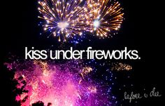 kiss under fireworks
